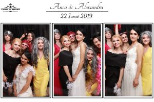 cabina cu nebunii, model template photo booth, layout oglinda foto, oglinda magica
